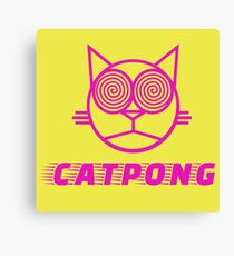 Cat pong Canvas Print