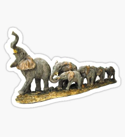 elephant walk Sticker