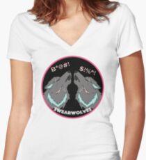 Swearwolves Women's Fitted V-Neck T-Shirt