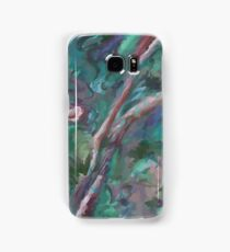 Green and Pink Texture Samsung Galaxy Case/Skin