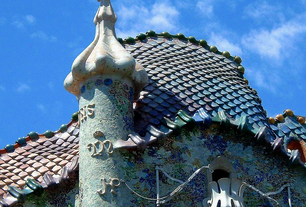 Gaudi Roof Detail by Puffling