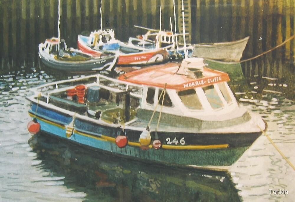 Motor Launch in Harbour by Tonkin