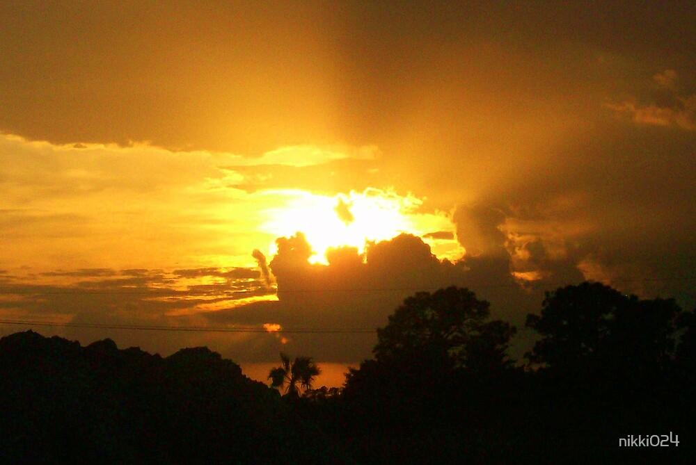 AS THE SUN SNEEKS AWAY by nikki024