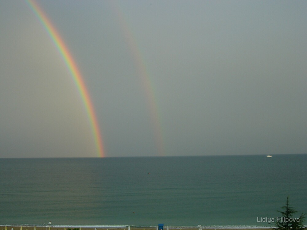 Rainbow in the Sea by Lidiya