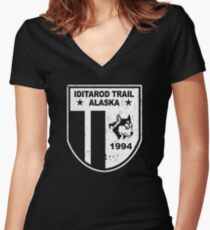 Iditarod Trail Women's Fitted V-Neck T-Shirt