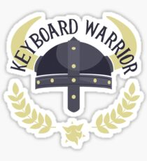 Keyboard Warrior Sticker