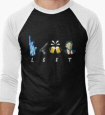 Liberty Guns Beer Trump Support T-shirts Funny Parody LGBT Men's Baseball ¾ T-Shirt