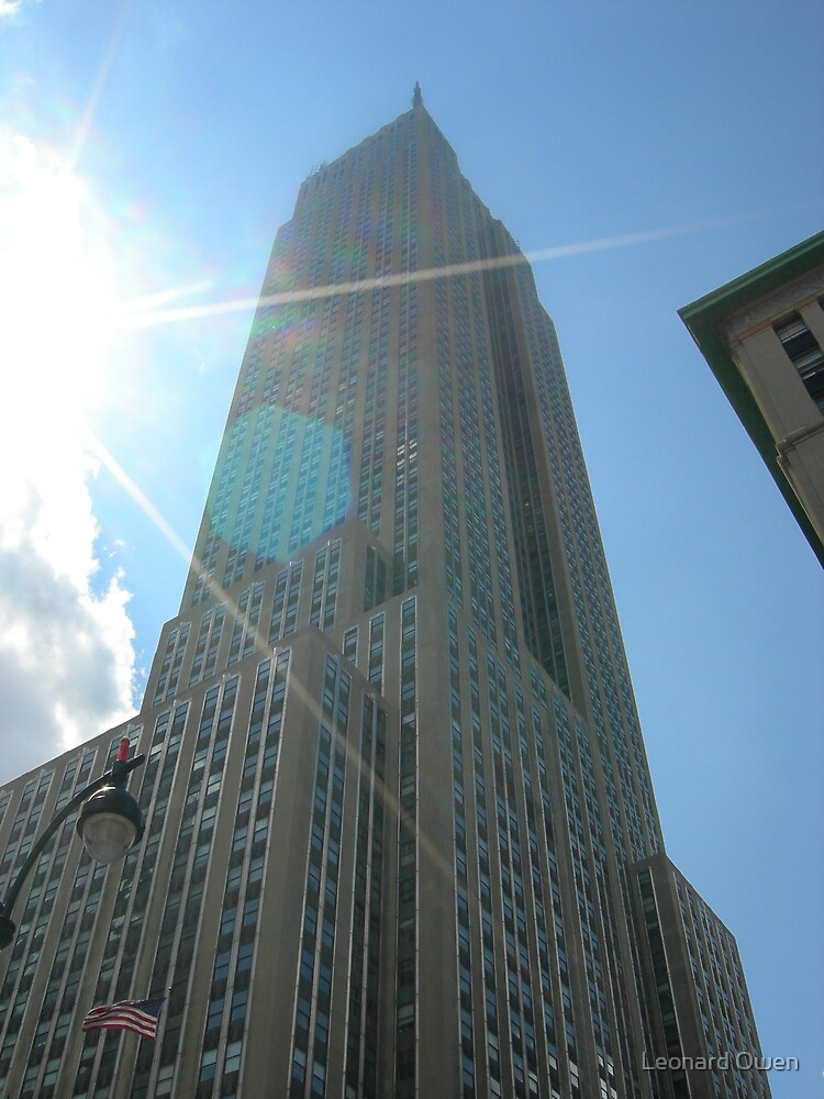 Empire State Building In The Sunlight by Leonard Owen
