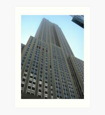 Looking Up at the Empire State Building Art Print