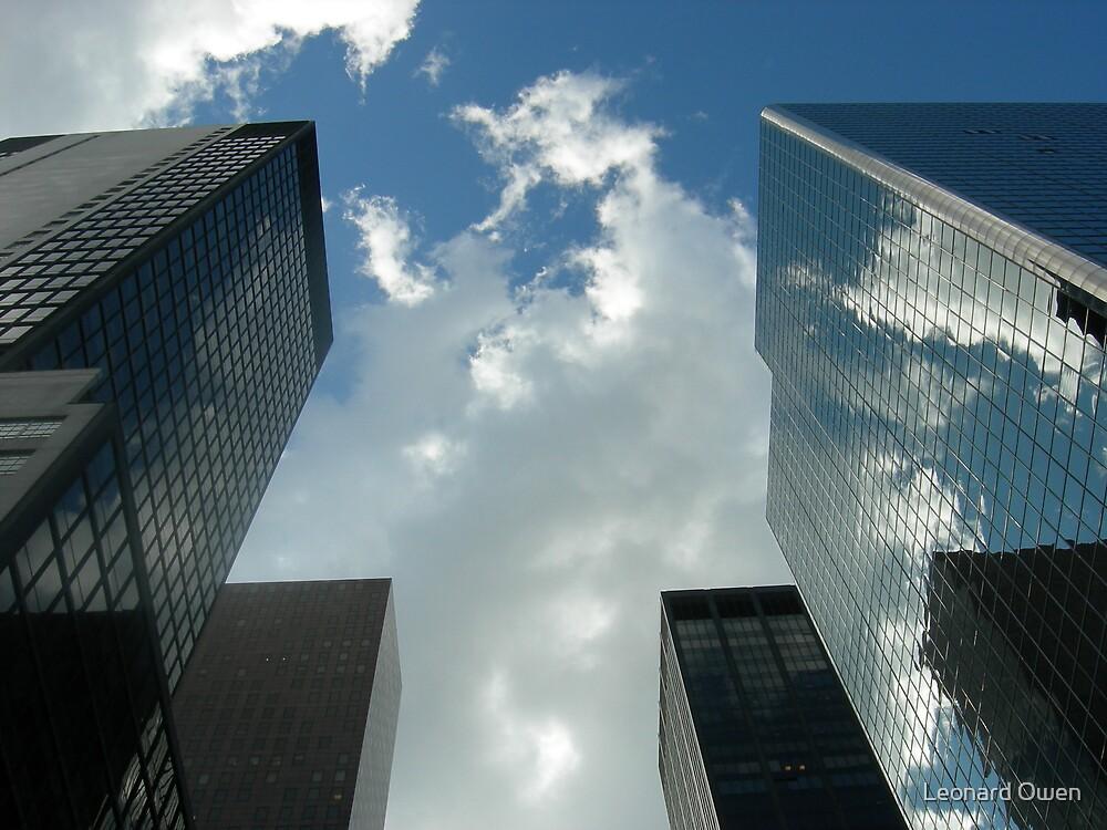 Reaching Into the New York Sky by Leonard Owen