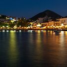 Pylos at night by Konstantinos Arvanitopoulos