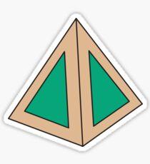 Green Triangles Sticker