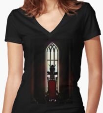 Throne of Glass. Women's Fitted V-Neck T-Shirt