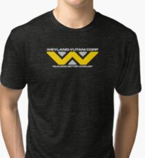 Weyland Yutani Corp - White Text version Tri-blend T-Shirt