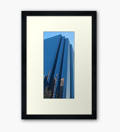 Boston Blue Glass Framed Print