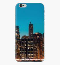 Manhattan at night panorama iPhone Case