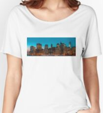 Manhattan at night panorama Women's Relaxed Fit T-Shirt