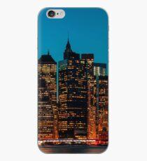 Manhattan at night iPhone Case