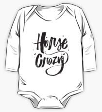 Horse Crazy - Love Horses - Farm Country Southern One Piece - Long Sleeve