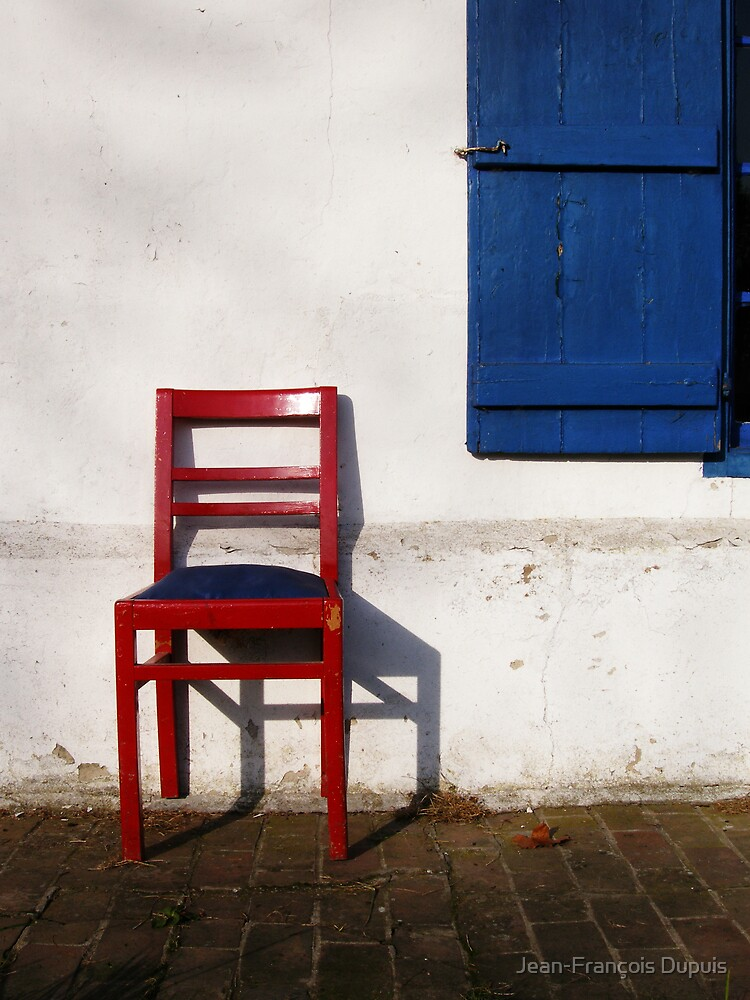 Red chair by Jean-François Dupuis