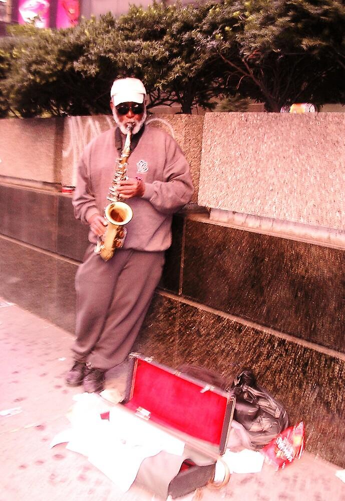 Sidewalk Jazz by pinkangel014