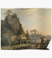 George Stubbs - Landscape With Hunters Poster