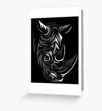 Tribal Rhino Greeting Card