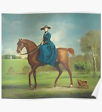 George Stubbs - The Countess Of Coningsby In The Costume Of The Charlton Hunt Ca. 1760 Poster