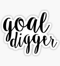 goal digger black Sticker