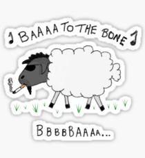 Baaa to the Bone Sticker