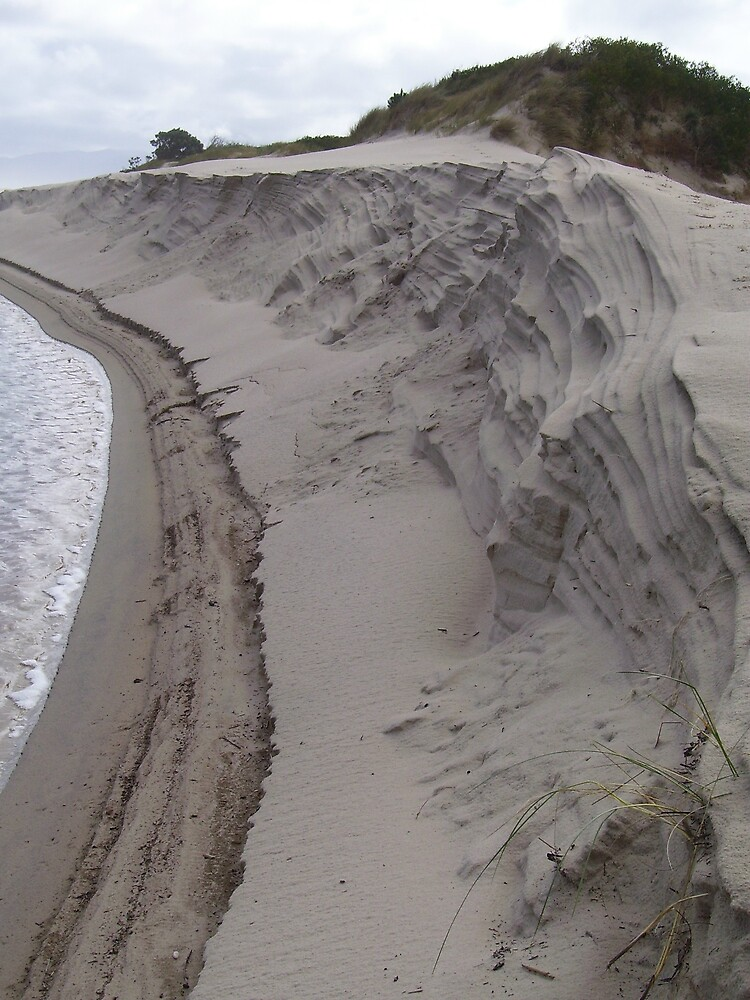 edge of dune - love the rippling effect of the sand by gaylene
