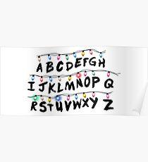 Stranger Things Alphabet Poster