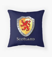Scotland Lion Rampant Shield Throw Pillow