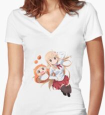 Umaru-chan Women's Fitted V-Neck T-Shirt