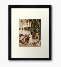 Georges Jules Victor Clairin - The Spanish Dancers Framed Print