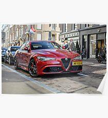 Alfa Romeo Giulia QV Poster