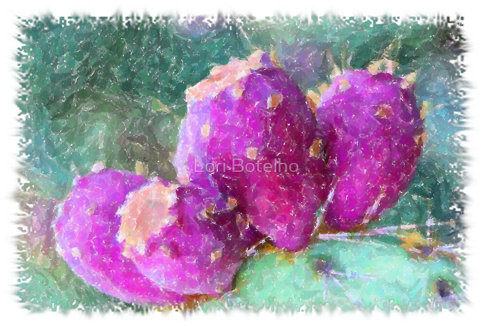 Prickly Pear Art by Lori Botelho