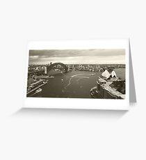 Sydney icons aerial Greeting Card