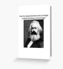 Lustige Geschichtsklasse Karl Marx Meme Grußkarte