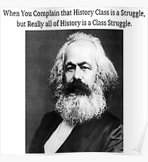 Funny History Class Karl Marx Meme Poster