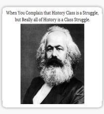 Funny History Class Karl Marx Meme Sticker