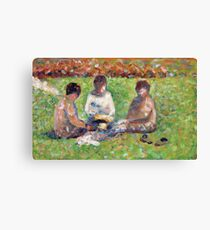 Georges Seurat - The Picnic 1885 Canvas Print