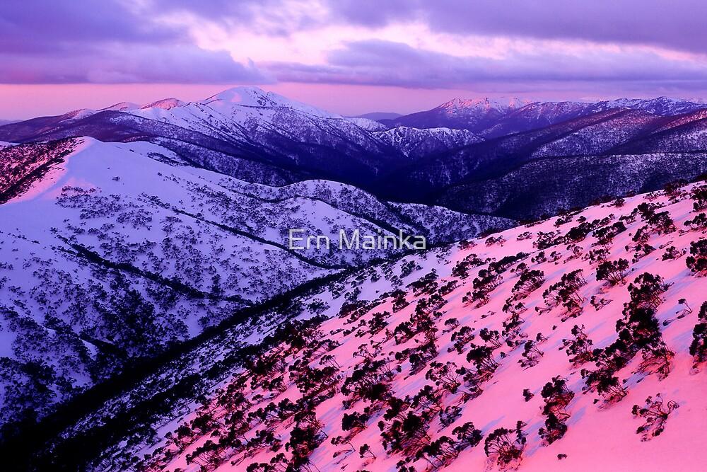 Mount Hotham sunset by Ern Mainka