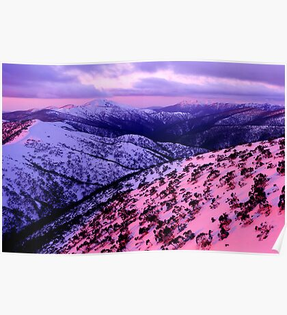 Mount Hotham sunset Poster
