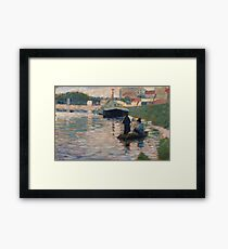 Georges Seurat - View Of The Seine Framed Print