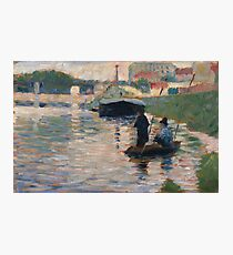 Georges Seurat - View Of The Seine Photographic Print