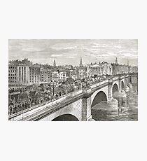 London Bridge in the 19th Century Photographic Print