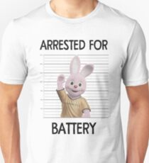 Duracell Bunny - Arrested For Battery Unisex T-Shirt