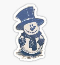 Sketch Snowman Sticker