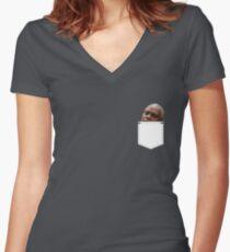 Holt Pocket Version Women's Fitted V-Neck T-Shirt